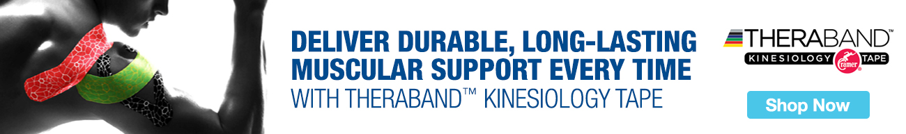 Full Page Ad – Offer Support with TheraBand Kinesiology Tape – Click to View Page