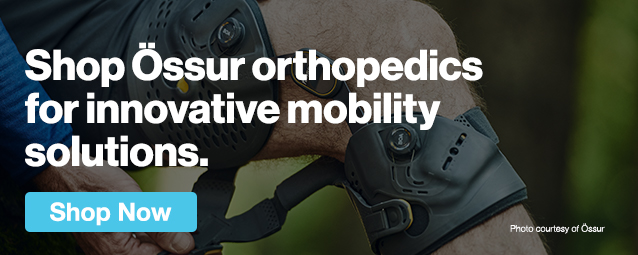 Half Page Ad – Shop Össur Orthopedics for Innovative Mobility Solutions  – Click to View Page