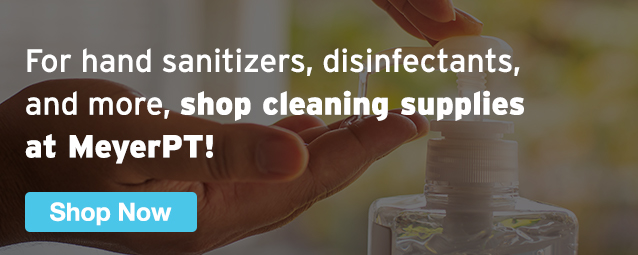 Half Page Ad – Shop Cleaning Supplies at MeyerPT – Click to View Page