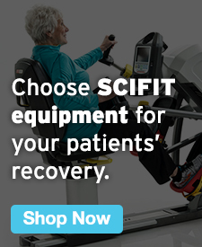 Quarter Page Ad – Choose SCIFIT Equipment for Your Patients' Recovery – Click to View Page