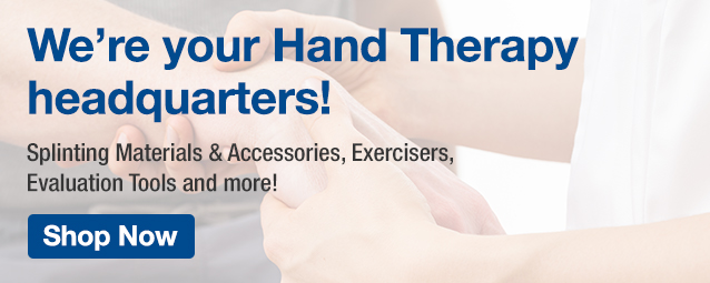 Homepage Banner Ad - Hand Therapy products - Click to Shop