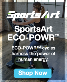 Quarter Page Ad – Sports Art Eco-Power stationary cycles – Click to view page