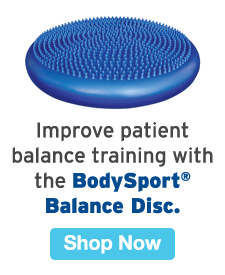 Quarter Page Ad – Improve Patient Balance Training with the BodySport® Balance Disc – Click to View Page