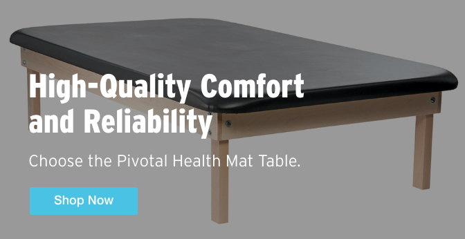Three Quarter Page Ad – High-Quality Comfort and Reliability Choose the Pivotal Health Mat Table – Click to View Page