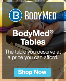 Quarter Page Ad – Shop BodyMed Treatment Tables – Click to Shop