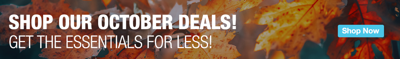 Full Page Ad – Shop our October Deals – Click to View Page