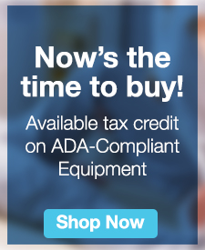 Quarter Page Ad – ADA Tax Credit on Qualifying Physical Therapy Equipment – Shop Now