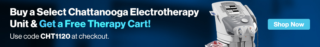 Full Page Ad – Buy a Select Chattanooga Electrotherapy Unit & Get a Free Professional Cart – Click to View Page