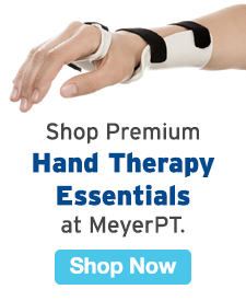 Quarter Page Ad – Shop Premium Hand Therapy Essentials at MeyerPT – Click to View Page