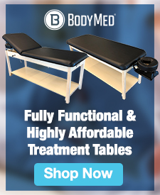Quarter Page Ad – Shop the BodyMed® Treatment Table Collection – Shop Now