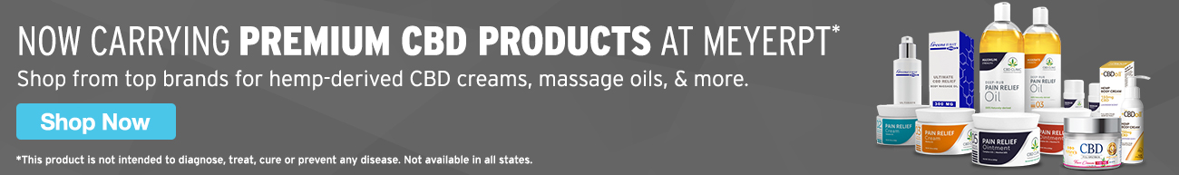 Full Page Ad – Now Carrying Premium CBD Products at MeyerPT – Click to View Page