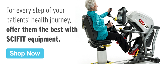 Half Page Ad – Outfit Your Practice with SCIFIT Equipment – Click to View Page