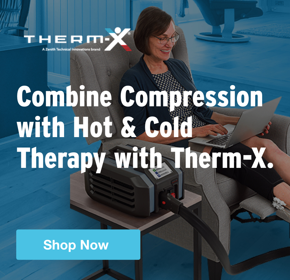 Half Page Ad – Combine Compression with Hot & Cold Therapy with Therm-X – Click to View Page