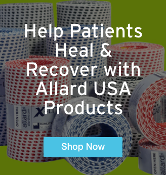 Quarter Page Ad – Help Patients Heal & Recover with Allard USA Product – Click to View Page