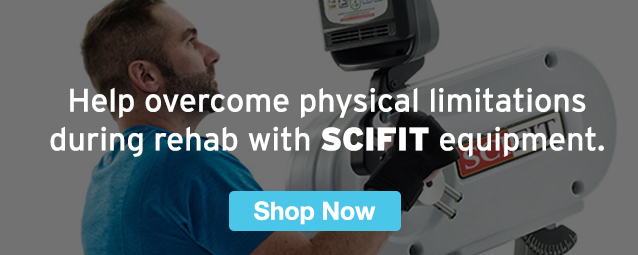 Half Page Ad – Help Overcome Physical Limitations During Rehab with SCIFIT Equipment – Click to View Page