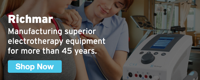 Half Page Ad – Shop Richmar Electrotherapy Equipment at MeyerPT – Click to View Page