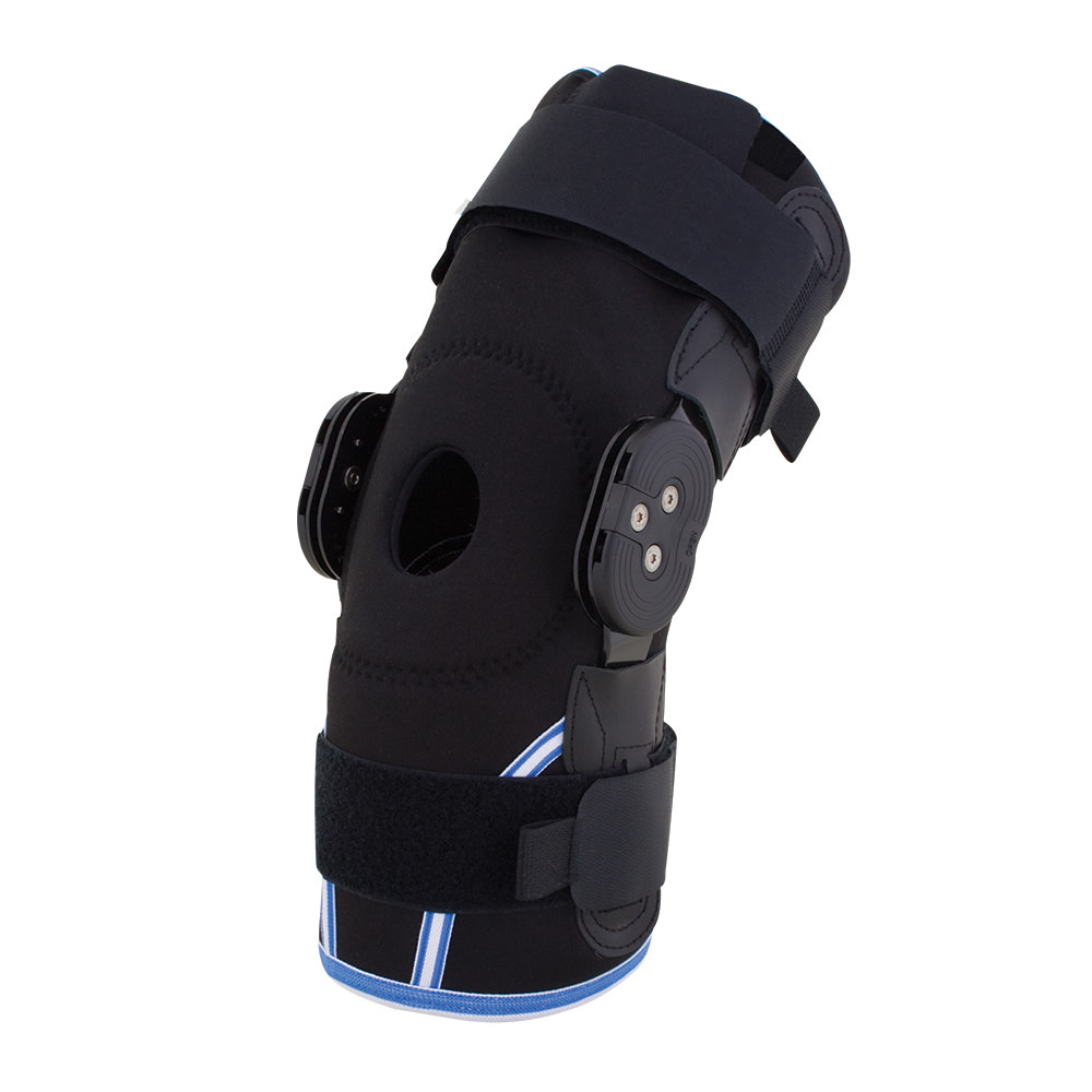 BodyMed Compression Airmesh Knee Brace with Range of Motion Hinges
