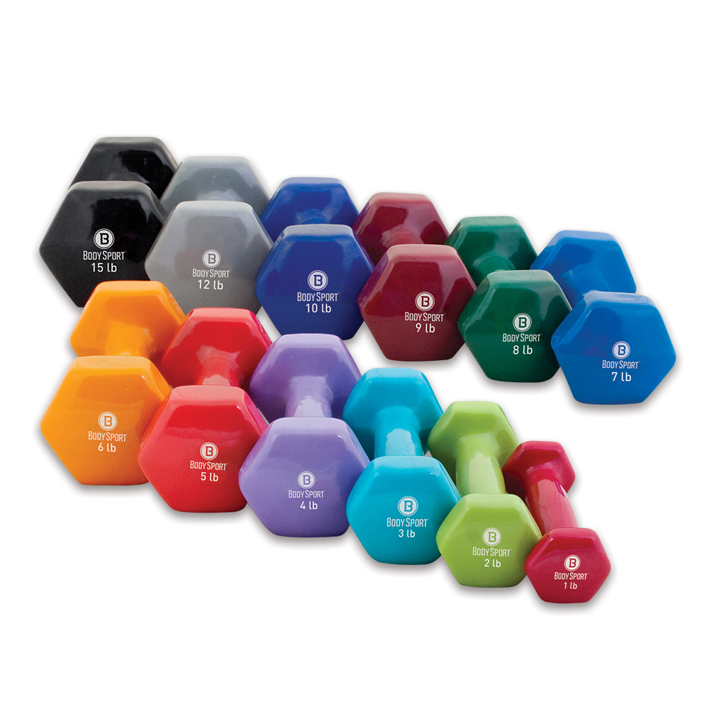 Body Sport Vinyl Dumbbells