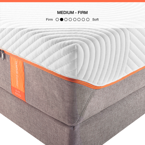 The TEMPUR-Contour Elite is a supportive, medium firm mattress for better sleep.