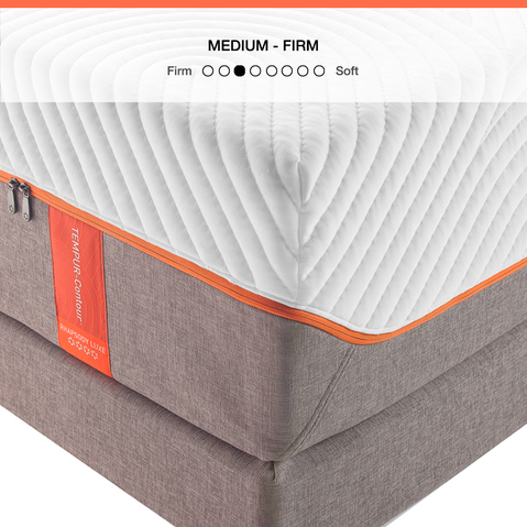 The TEMPUR-Contour Rhapsody Luxe is a medium firm mattress for alignment and better sleep.