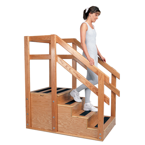 Oak Training Stairs & More at Meyer Physical Therapy