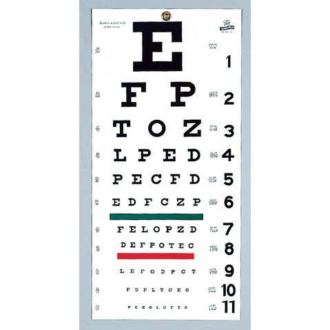 Snellen Type Plastic Eye Chart At Meyer Physical Therapy