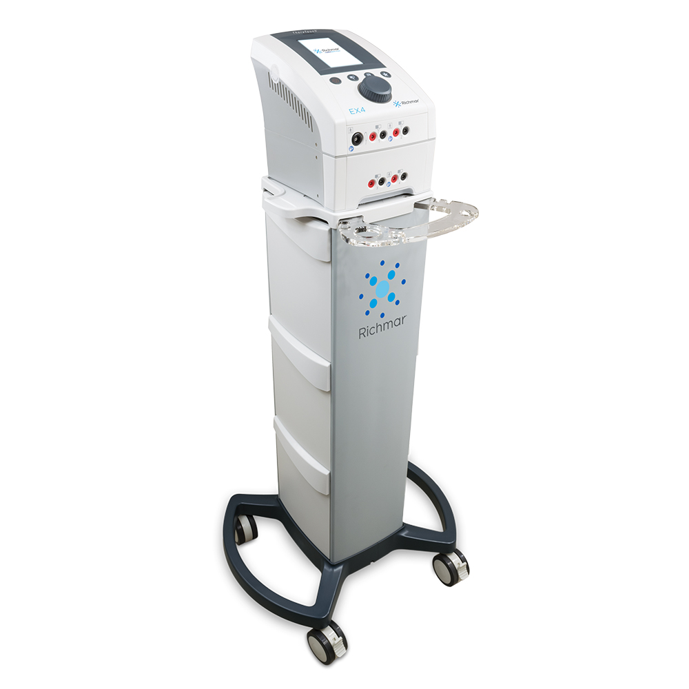 Richmar TheraTouch EX4 Clinical Electrotherapy System with Therapy Cart