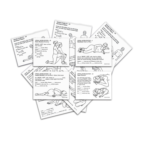 805-K Orthopedic Exercise & Rehab Prescription Card Kit at